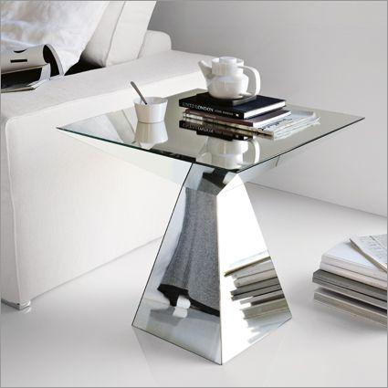 ex display cattelan italia theo pyramid side table mirrored