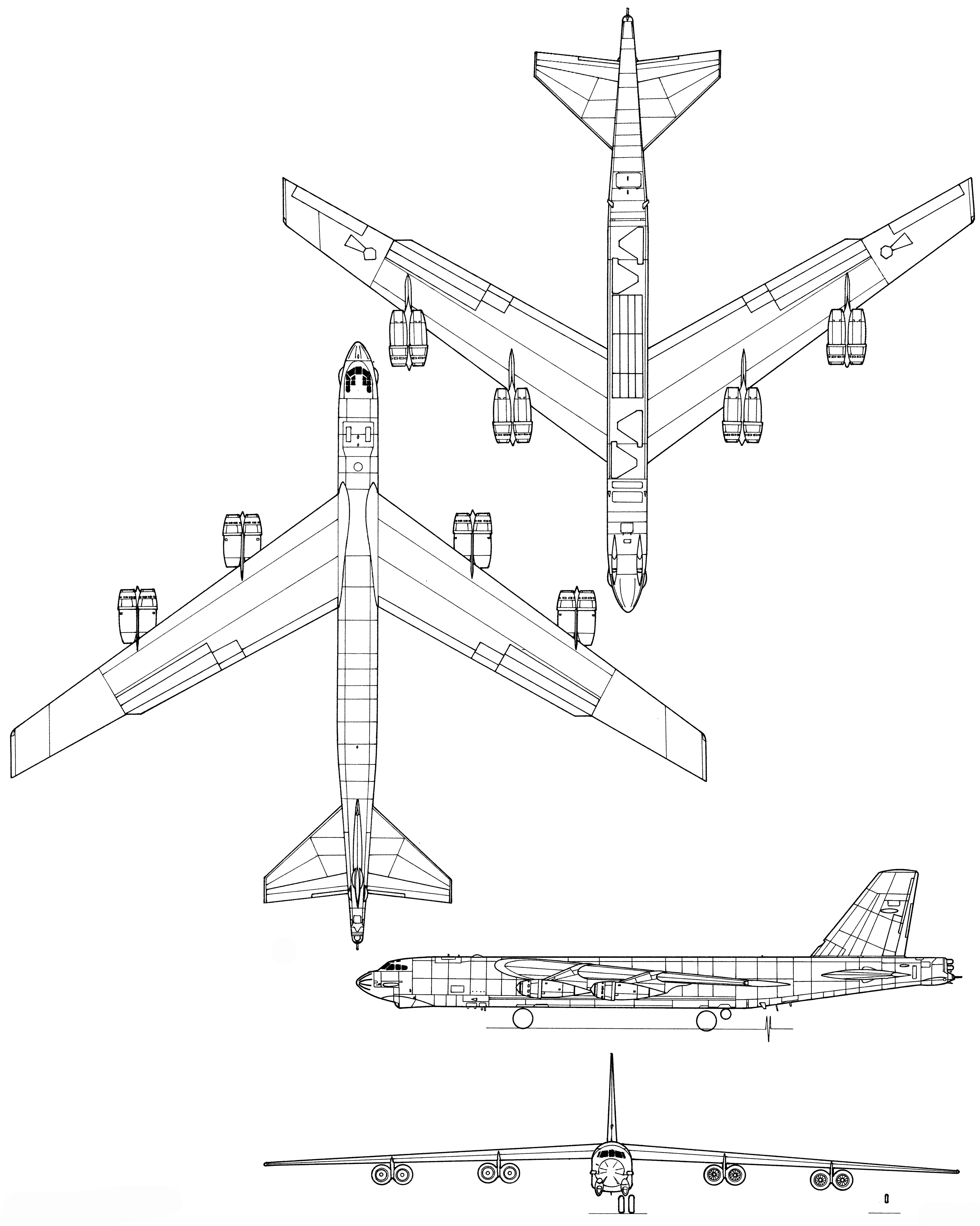 Boeing B 52 Stratofortress Blueprint