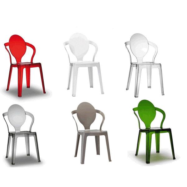 Sedie design in policarbonato modello Spoon. Sedie eleganti ...