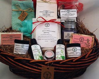Natural Spa Gift Basket.Handcrafted Eco Spa gift set for her.Deluxe ...