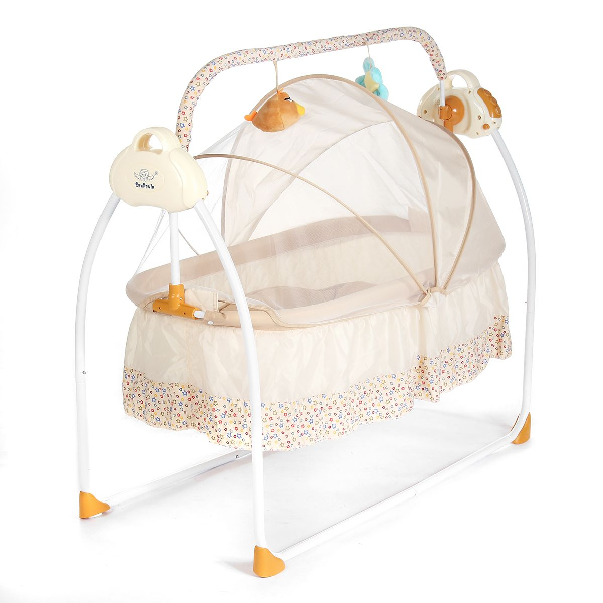 smart electric baby crib music cradle infant rocker auto swing sleep