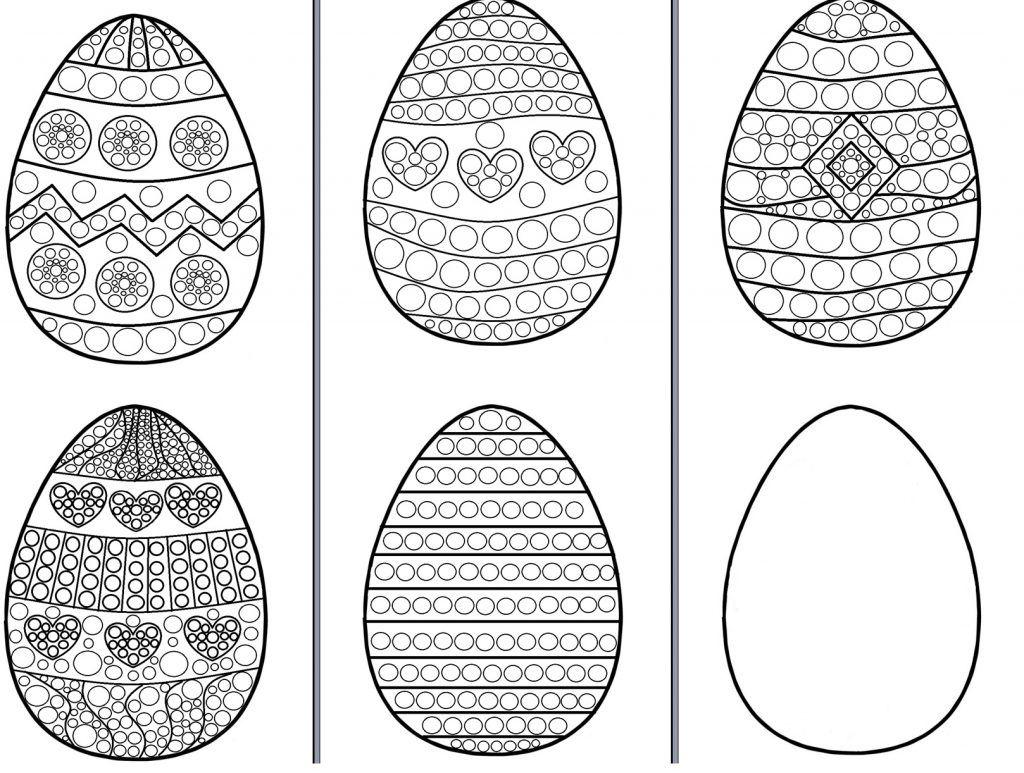 Pisanki Do Wyklejania Plastelina Malowania Kolorowania Kolorowanki Wielkanoc I Rekodzielo