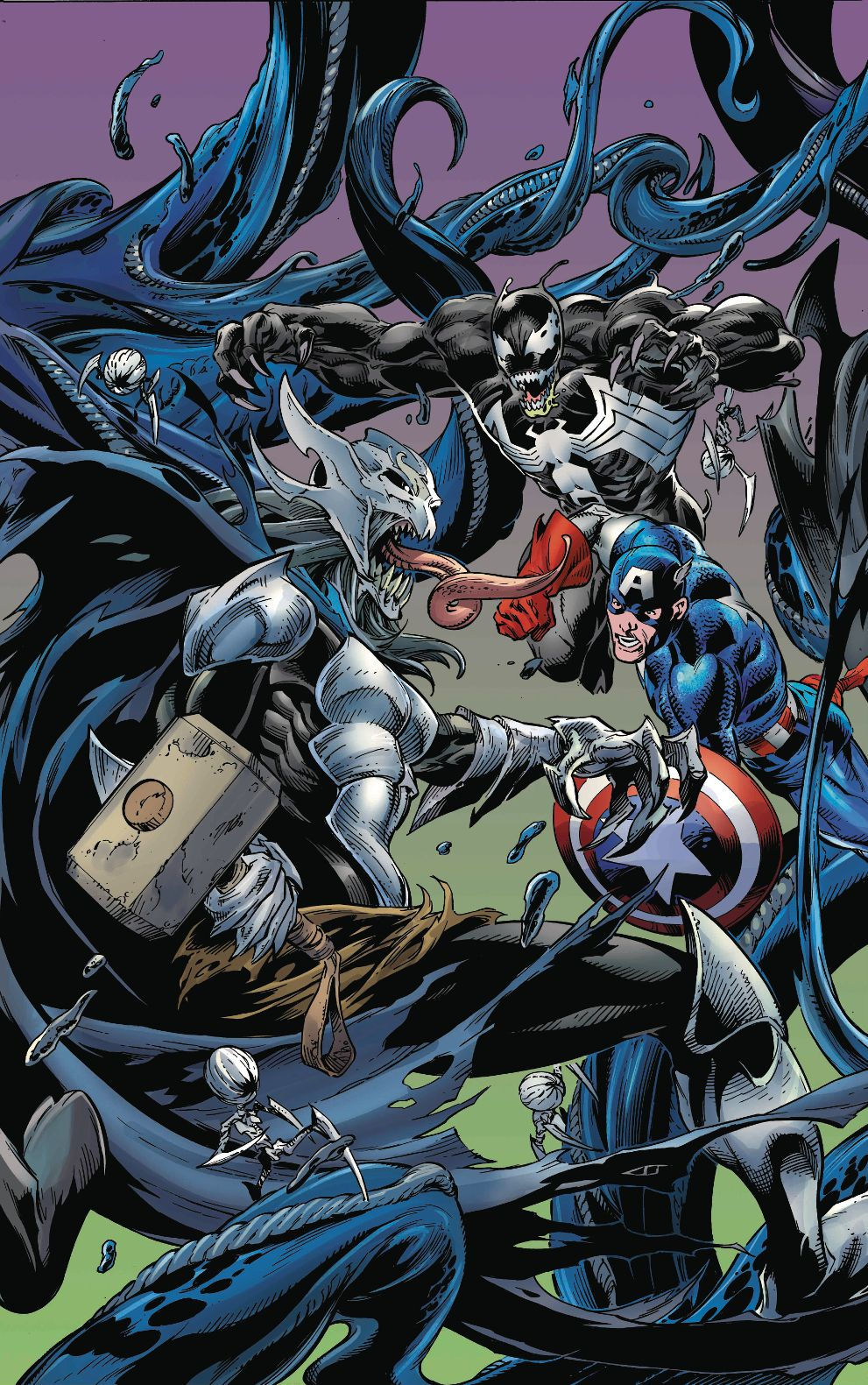 Venomized #3 (2018) Connecting Variant Cover by Mark Bagley