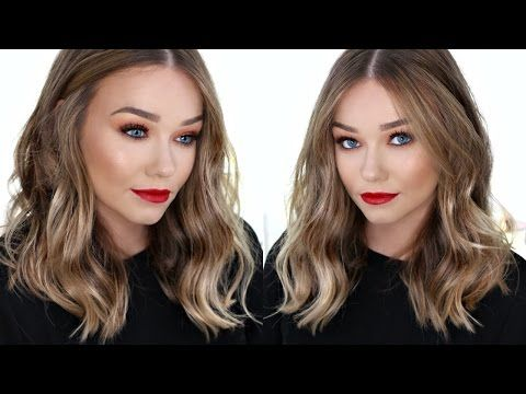 How To Curl Your Hair With A Straighteners Flat Iron Easy Messy