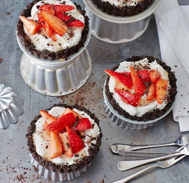 Erdbeer Schoko Tortchen Rezept Kuchen Ohne Backen Schoko