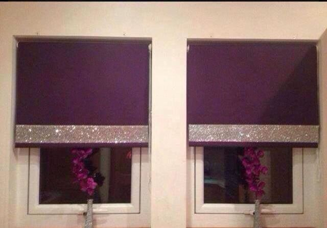Add A Bit Of Glitter To Bling Up Roller Blinds Diy