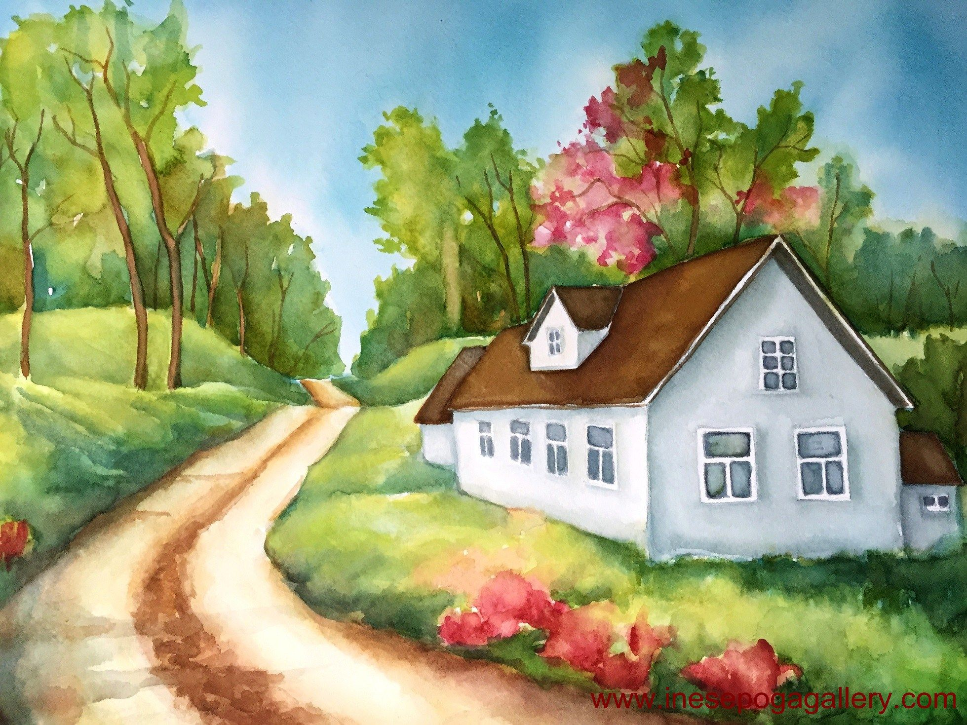 Power Of Art Relies On The Divine In Nature Perspective Art Nature Watercolor Landscape Drawings
