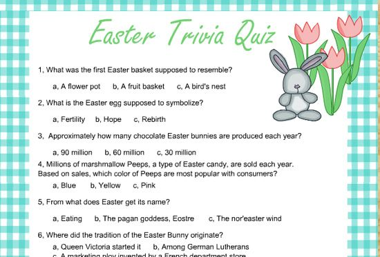 Genius image regarding spring trivia questions and answers printable