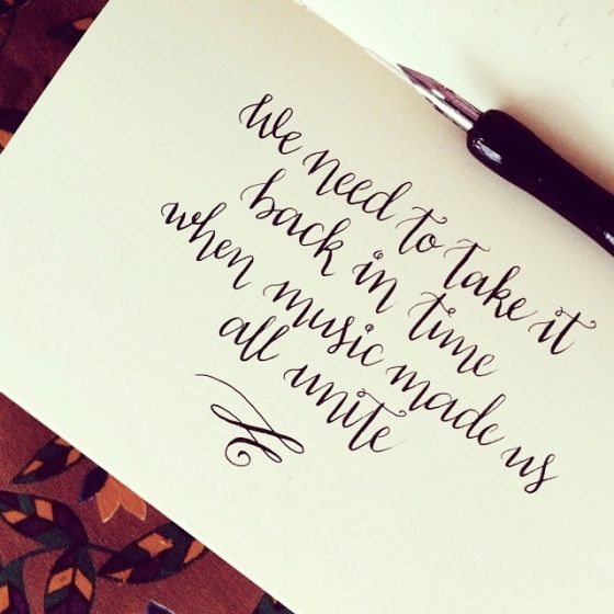 A Song From Pitch Perfect In My Calligraphy Practice