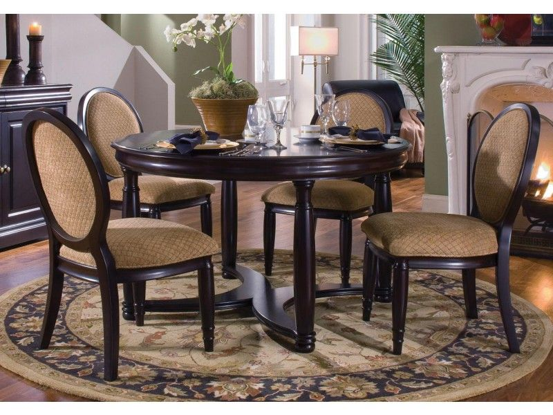 Semi formal round dining table and chair set $1 098