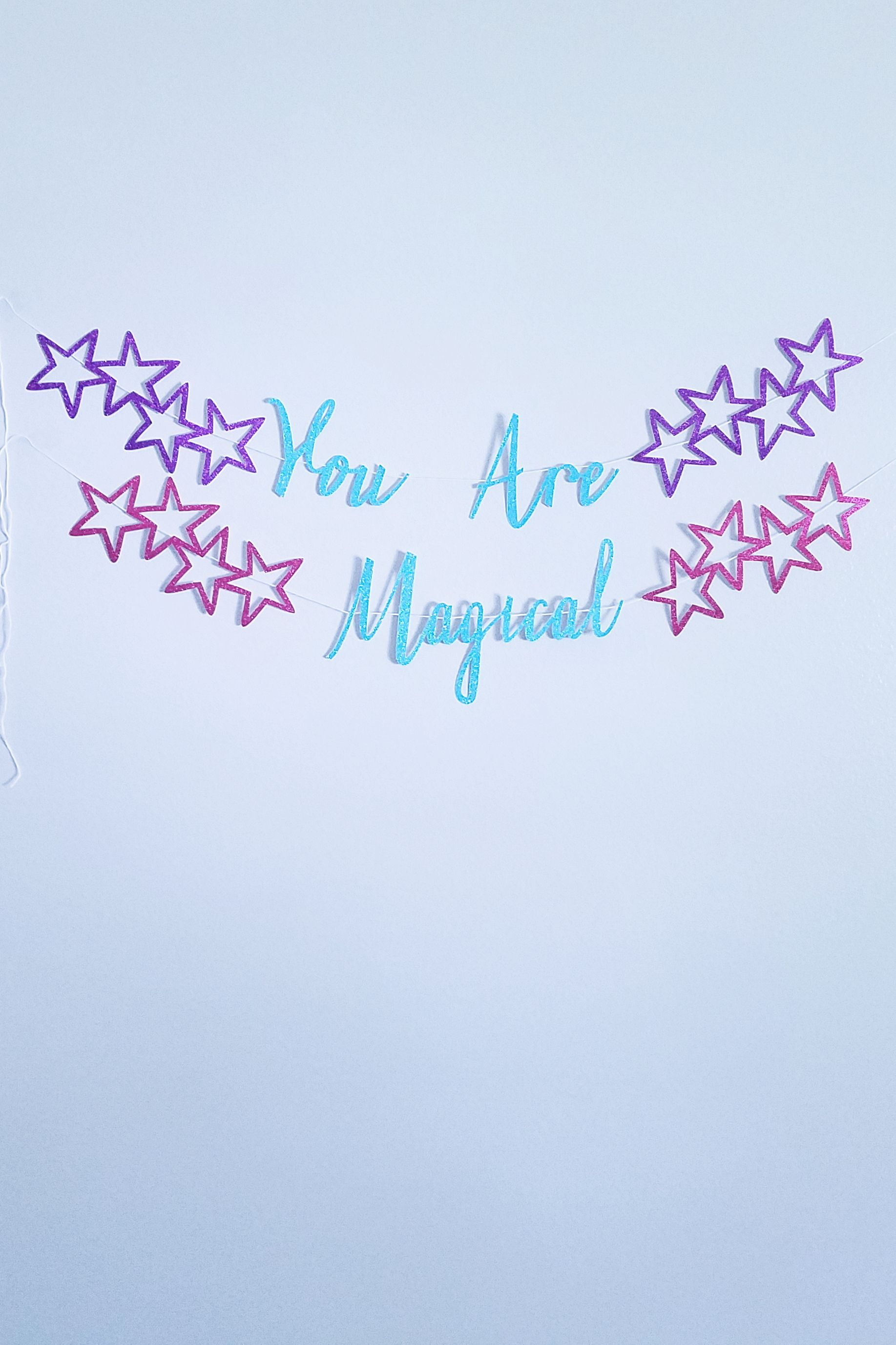 Happy 65th Birthday Party Decor Holographic Foil Celebration Banner Age 65 Blue