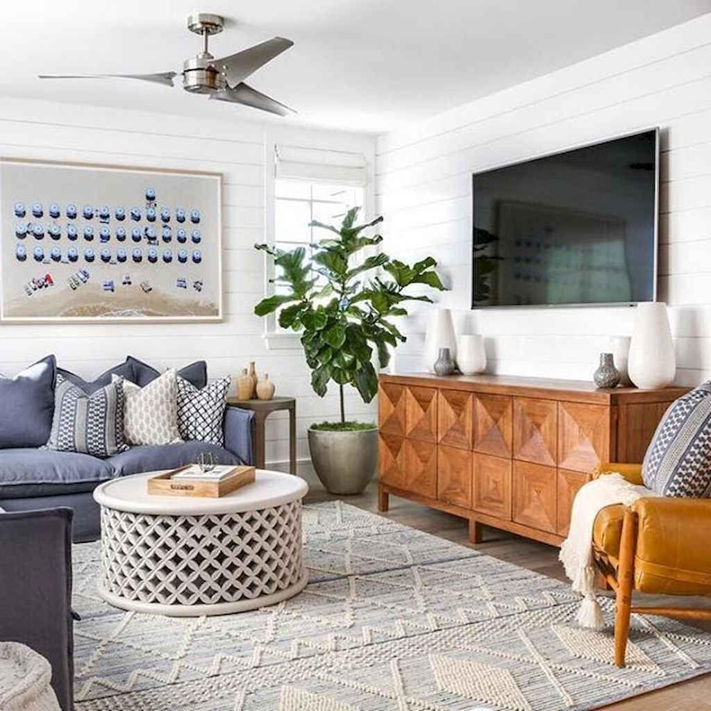 01 Gorgeous Coastal Living Room Decor Ideas In 2020 Coastal