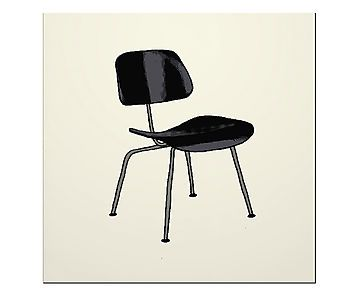 Placa Decorativa Black Chair - 20X20cm