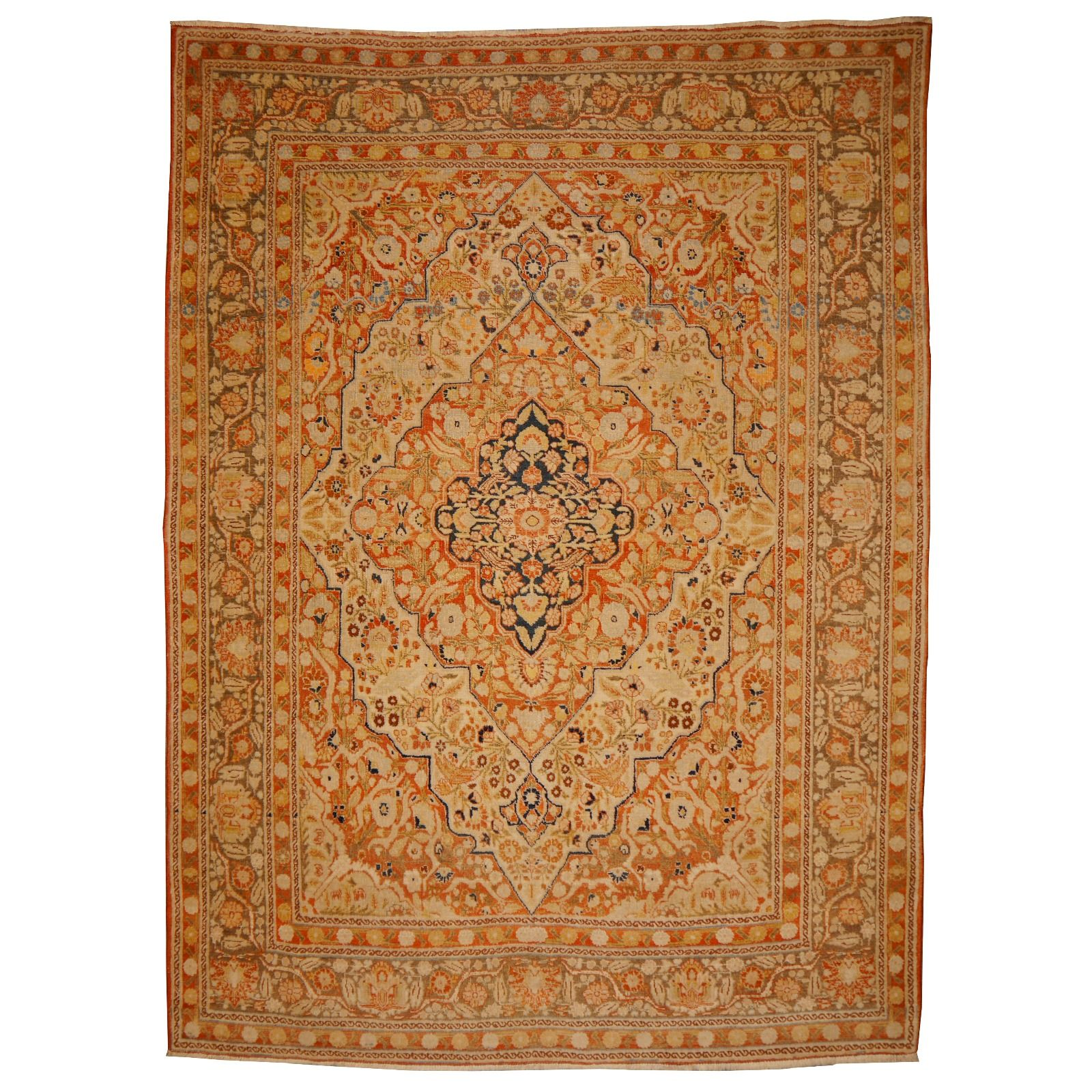 14845 Tabriz Haji Jalili Rug Antique 5 7 X 4 1 Ft 172 X 126 Cm Persian Rug Designs Antique Persian Rug Rugs
