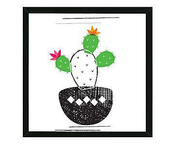 Quadro Cack Cactus - 44x44cm