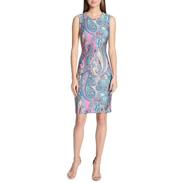 Tommy Hilfiger Women's Jaipur Paisley Sheath Dress ($97