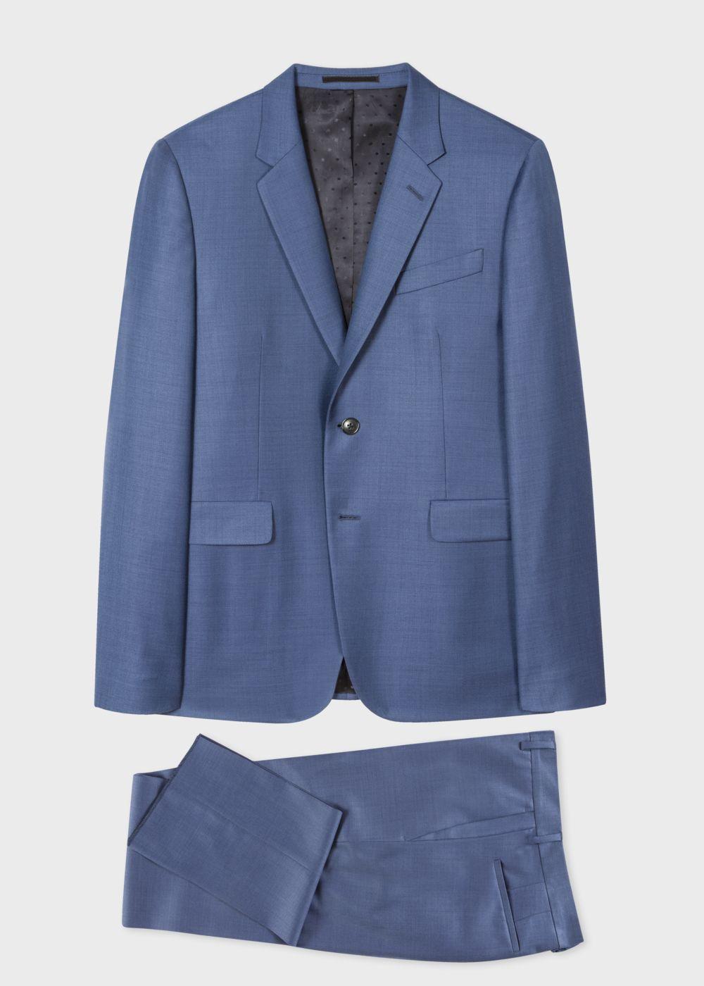 324714c6c7 The Kensington Men's Slim-Fit Sky Blue Wool Suit - Paul Smith US ...
