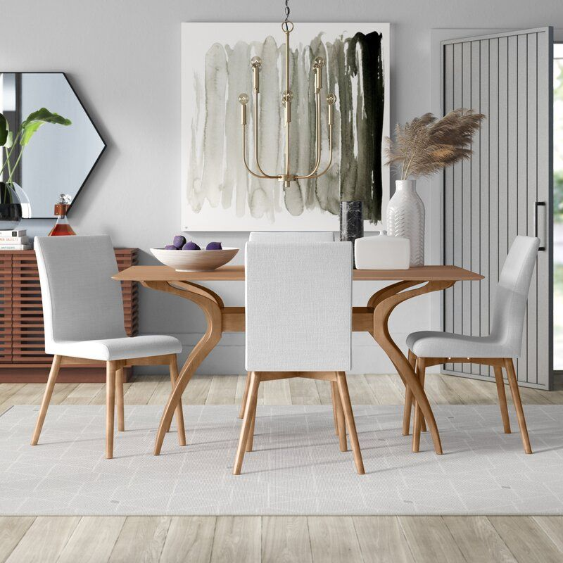 Mercury Row Liles 5 Piece Dining Set Reviews Wayfair Dining Set Modern Dining Room Set Dining Room Design Wayfair dining table and chairs
