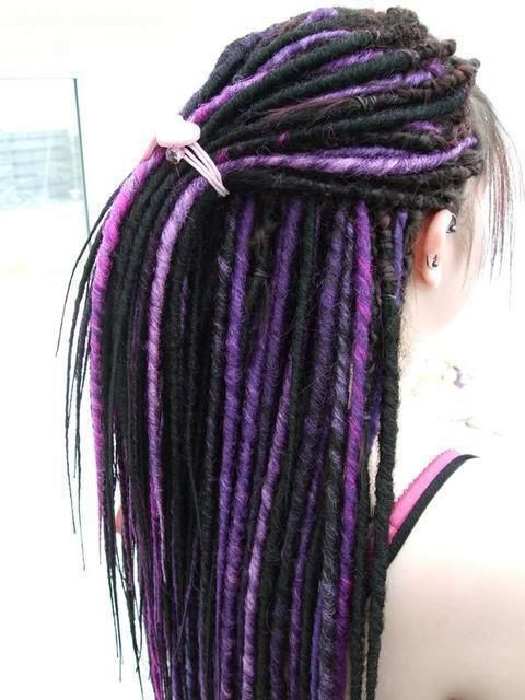 Black Amp Purple Synthetic Dreads Synthetic Dreadlocks