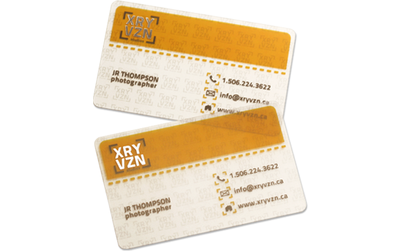 Taste Of Ink Printing Resource Plastic Business Cards Transparent Business Cards Business Cards Creative