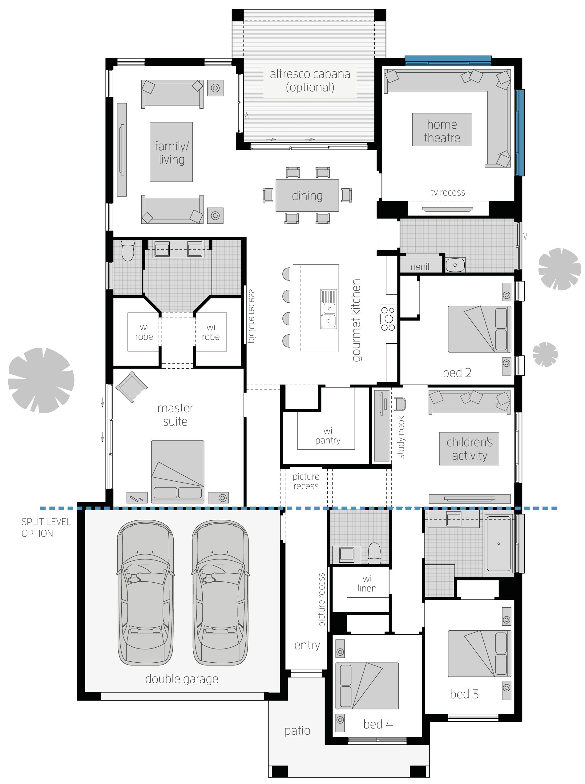 Seaside Retreat Zero Floor Plan Home Design Floor Plans Dream House Plans Floor Plans