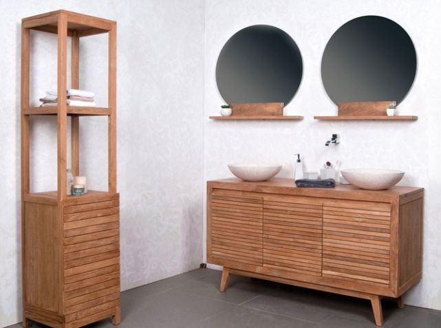salle de bains nature double vasque Interiors Pinterest Interiors - Meuble De Salle De Bain Sans Vasque