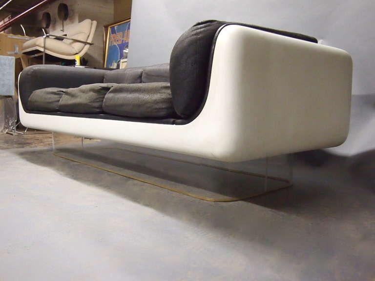 sofa chair and coffee tablewarren platner for steelcase