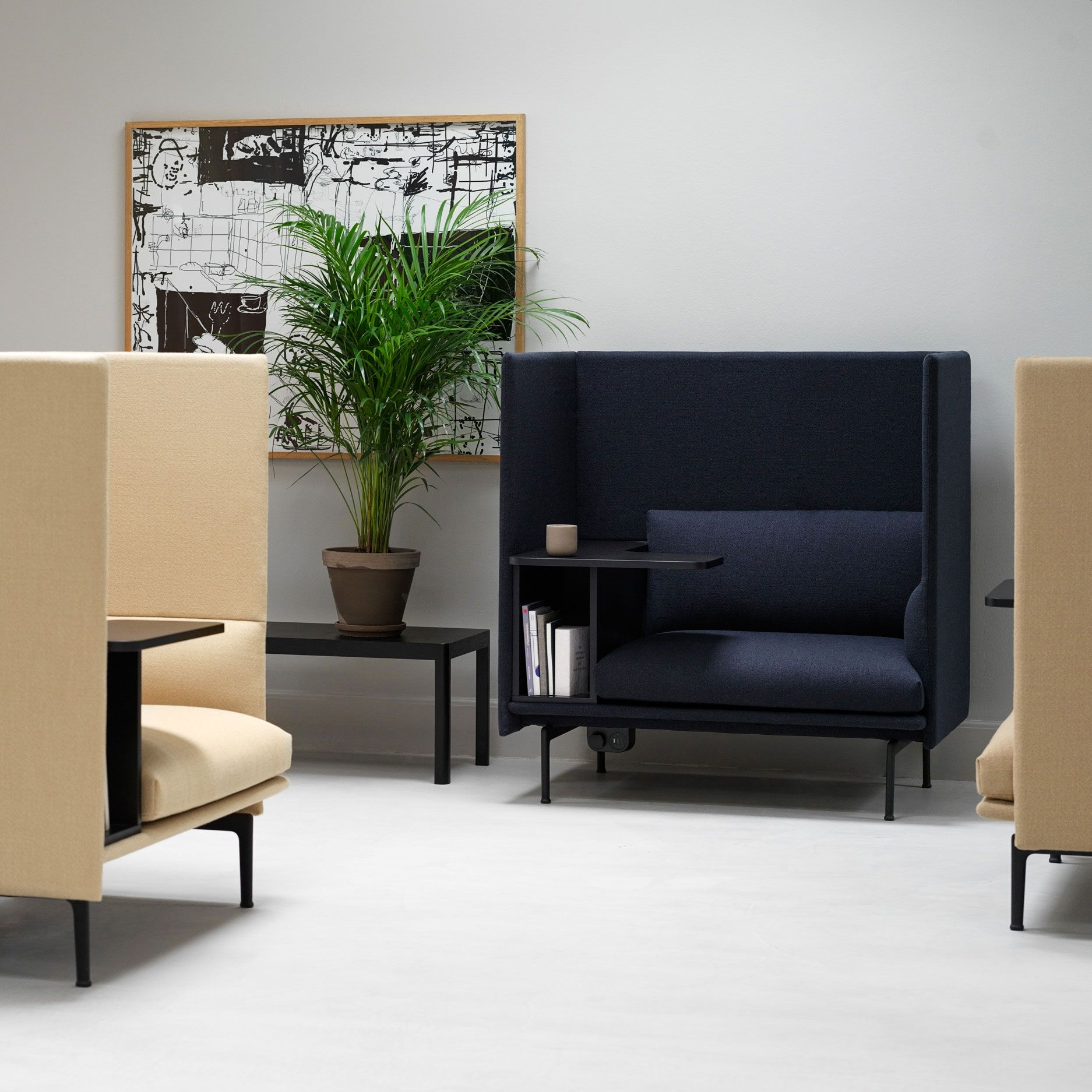 Functional And Comfortable Office Sofa Interior Inspiration From Muuto The Outline H Scandinavian Sofa Design Scandinavian Furniture Design Office Space Decor