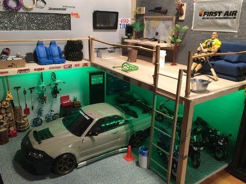 Rc Scale Garage Loft Youtube Hot Wheels Garage Garage Loft Garage Style