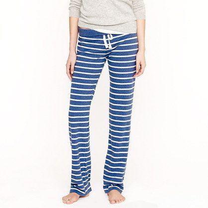 JCrew-Dreamy cotton pant in stripe.  Comes in Tall.