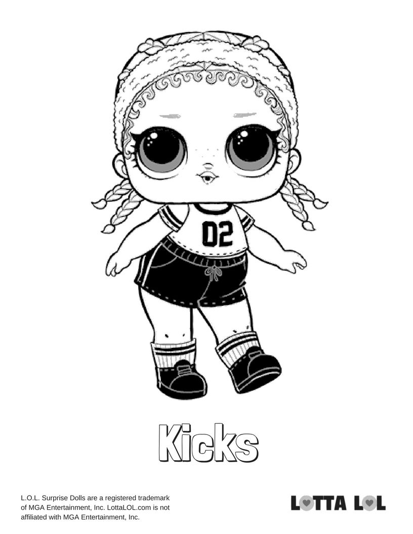 Kicks Coloring Page Lotta Lol Unicorn Coloring Pages Lol Dolls Coloring Pages