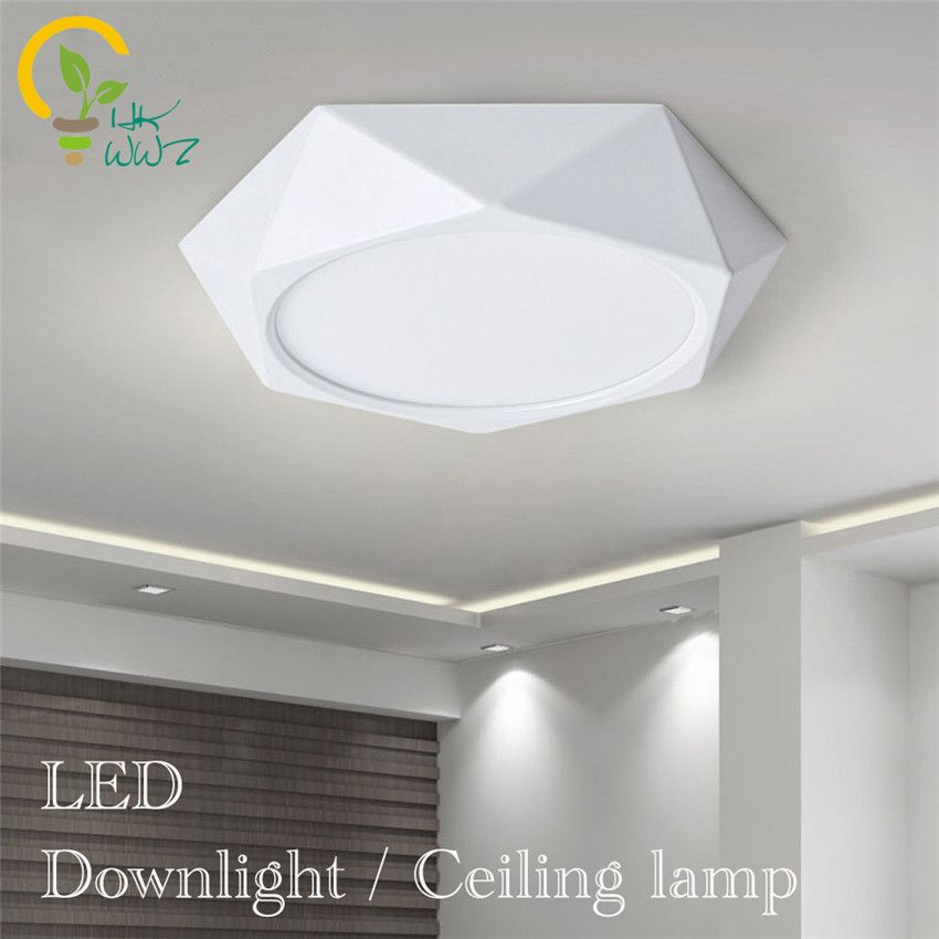 24W 18W 12W 6W LED Ceiling Panel Down Light Surface Mount Wall Kitchen Shop Lamp