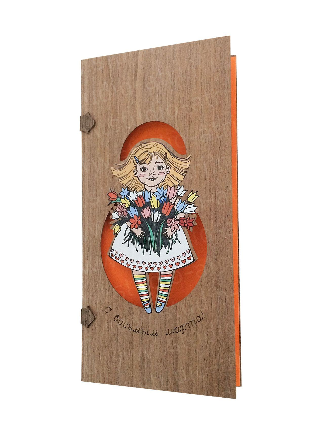 Деревянная открытка эскизы