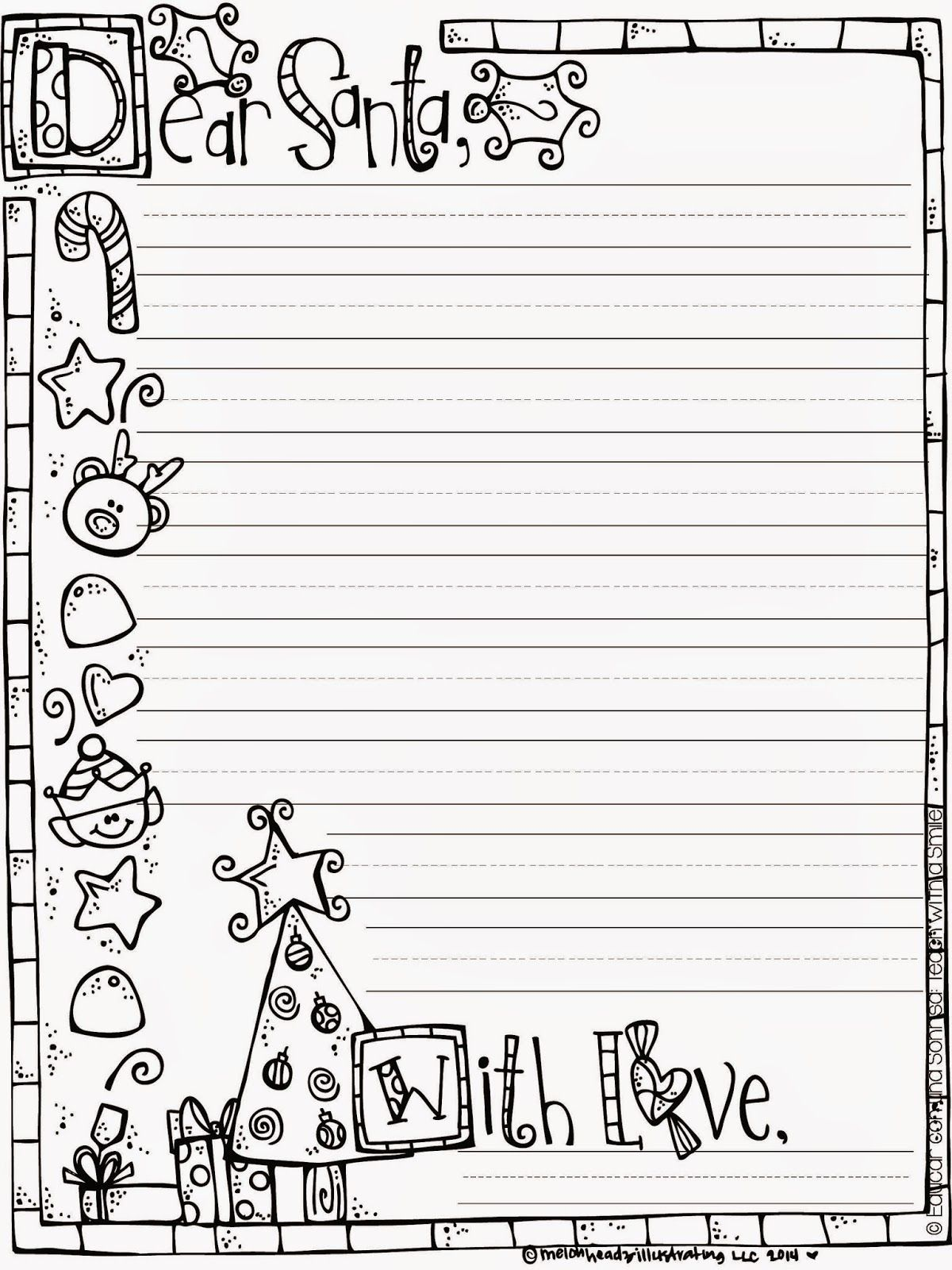 Letter to Santa Freebie … Christmas writing, Christmas