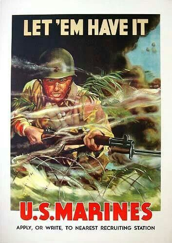Wwii Poster Marine Poster Military Poster Wwii Posters
