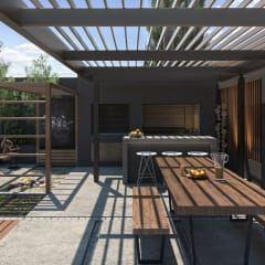 Terrazas De Estilo Por Tdc Oficina De Arquitectura Diseno De Terraza Arquitectura Diseno De Patio