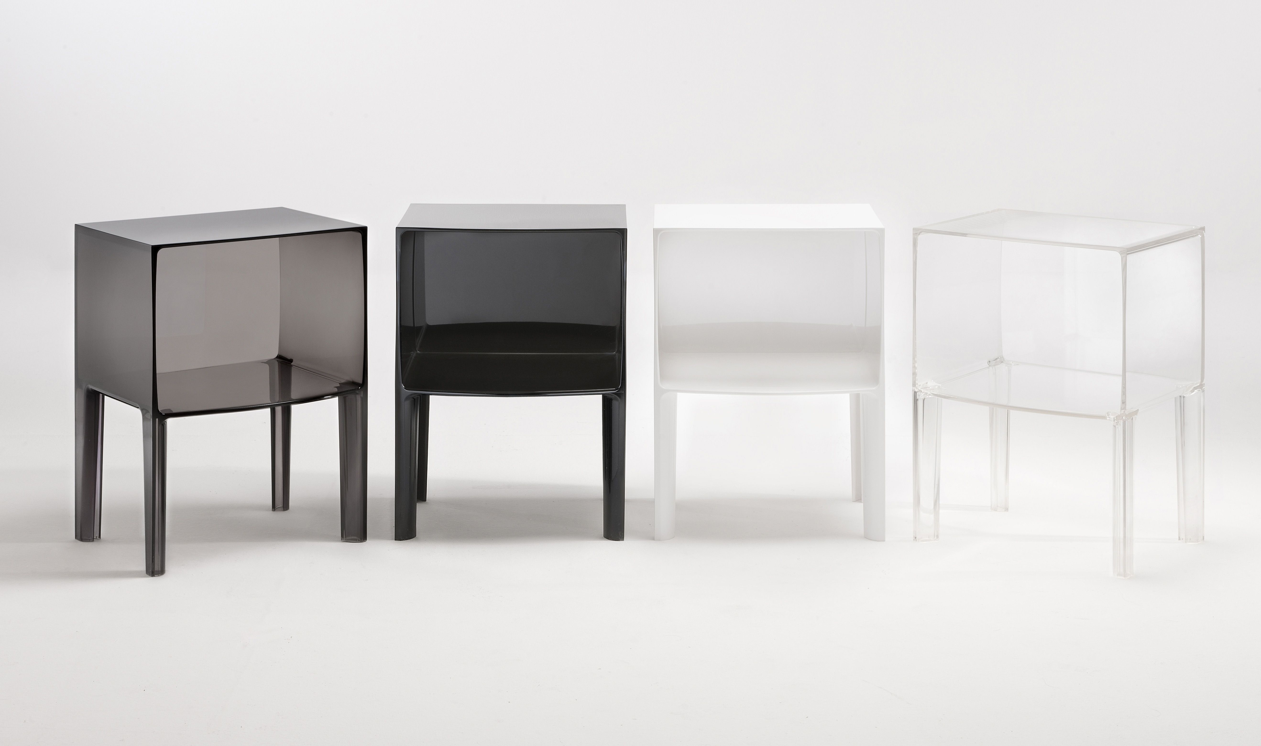 small ghost buster bedside table smoke by kartell - design