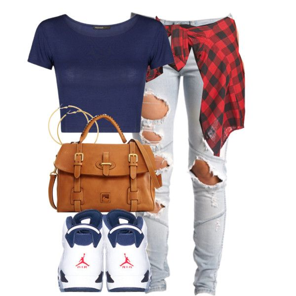 ffda14e8f8f990 ... by cheerstostyle on Polyvore cute outfits with Jordan s Pinterest  Discount jordans