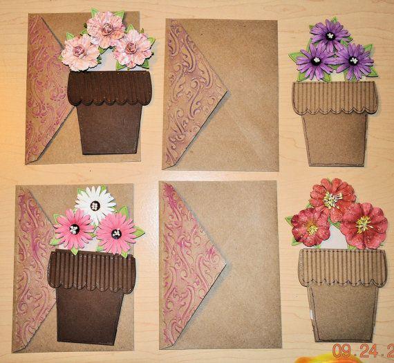 flower pot gift card holder card  gift card holder