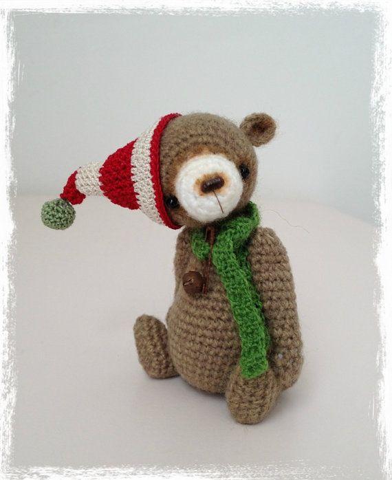 OOAK Miniature Crochet THREAD ARTist Miniature Elf Bear Pattern ...