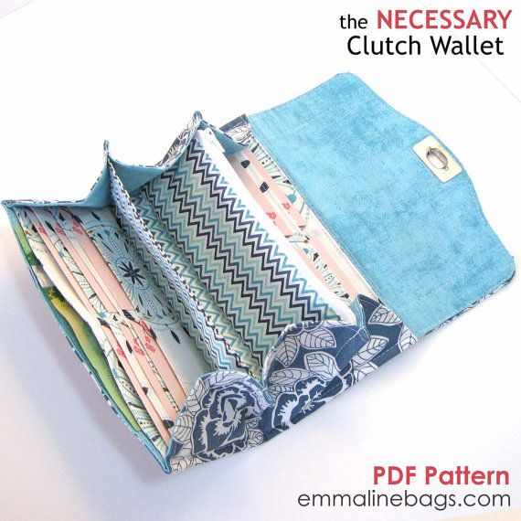 The Necessary Clutch Wallet Sewing Pattern A Large Wallet With Card