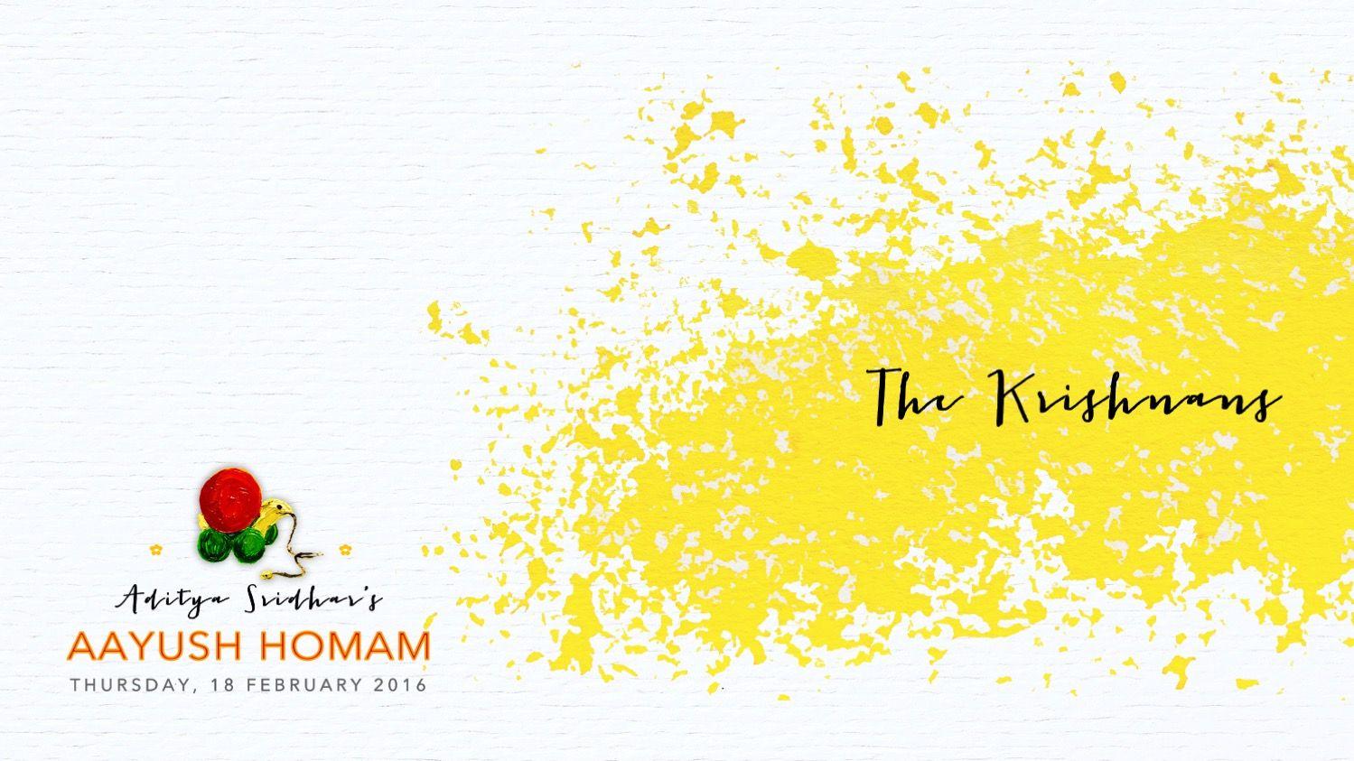 Aayush Homam invitation- Invite Envelope front playfully ...