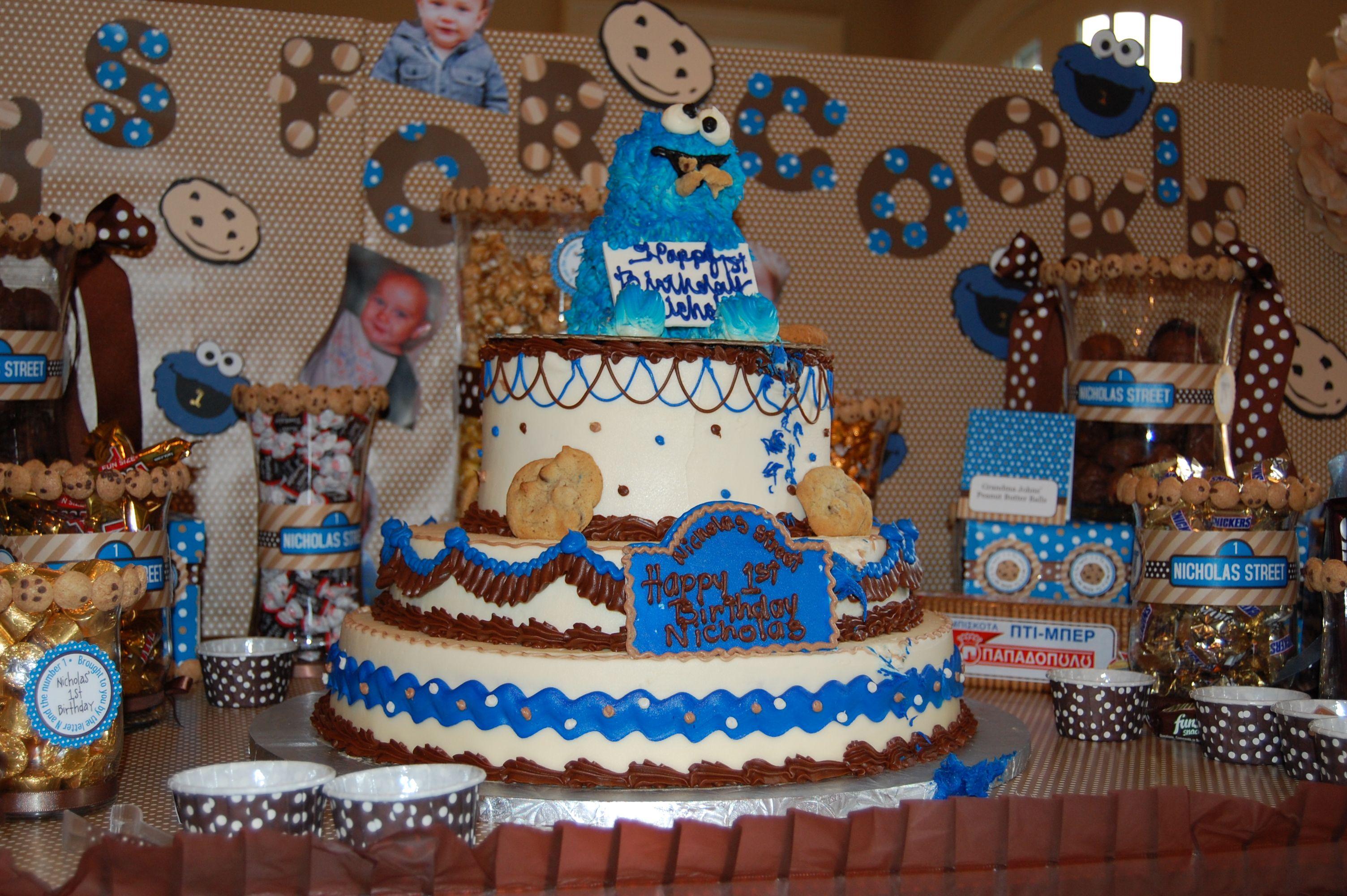 Cookie Monster Party Birthday Cake Anders Ruff Custom Designs