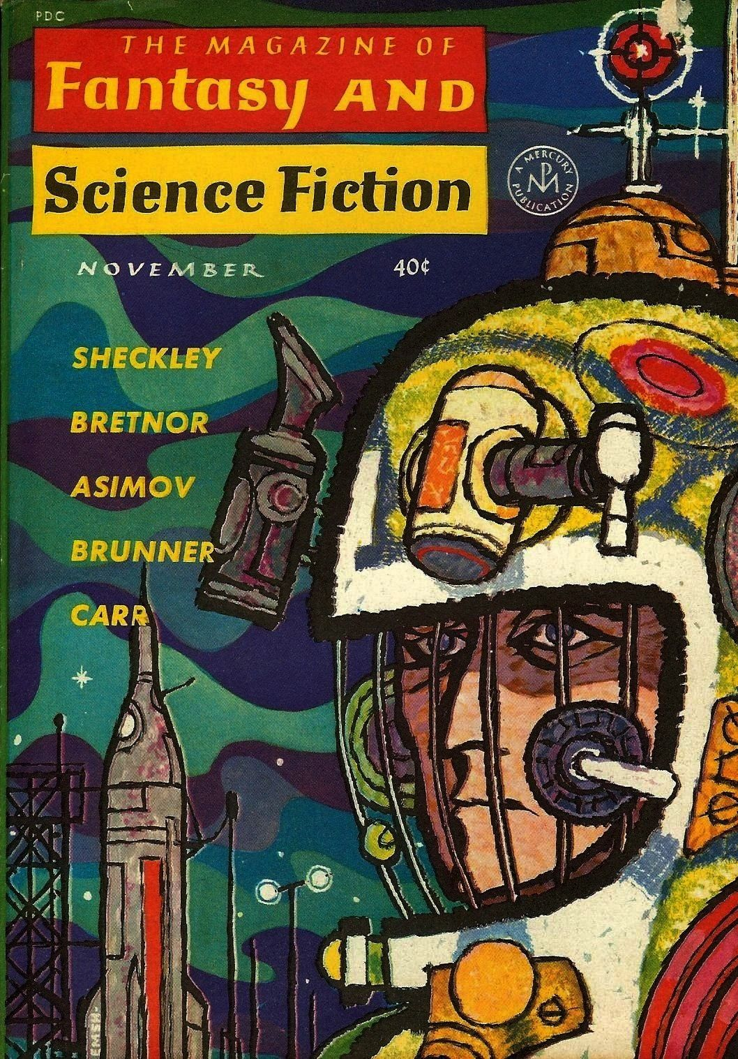 on the cover of The Magazine of Fantasy and Science Fiction November 1962 Ed Emshwiller art on the cover of The Magazine of Fantasy and Science Fiction November 1962  Lea...