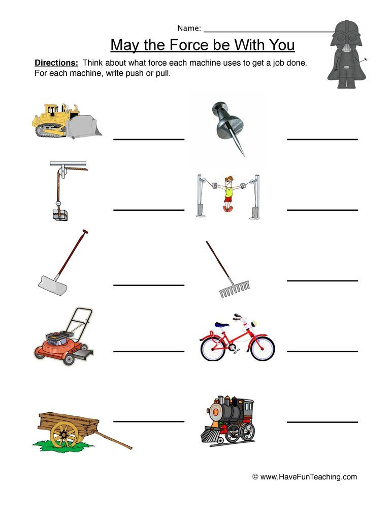 Labeling Force And Motion Worksheet Force And Motion Have Fun Teaching Force Activities