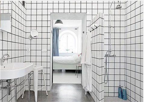 Du carrelage blanc dans la salle de bain cu0027est zen ! Coins - photo faience salle de bain