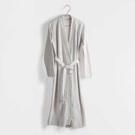 buy popular 28d0f 75518 Vestaglia micropile color grigio - Abbigliamento - Donna ...