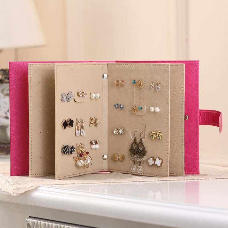 Fashion Pu Leather Book Style Jewelry Organizer Drop Earring Studs Earrings Storage Bo Case Holder Bh