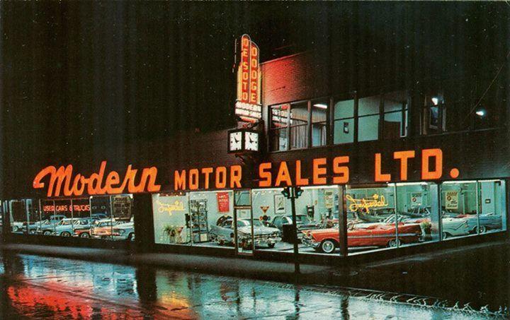 Modern Motor Sales Ltd Montreal Quebec Canada 1959 Car