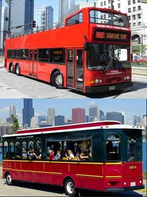 Tour Route is Served by Trolleys and Double Decker Buses
